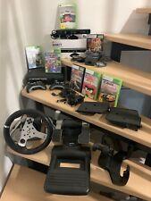 Xbox 360 Schwarz mit Lenkrad und Kinect, Spiele