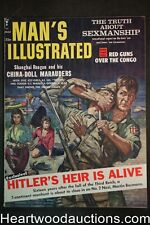 Man's Illustrated Mar 1961 Norman Saunders Art, Baby Face Nelson - Ultra High Gr