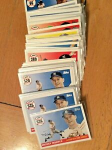 Mickey Mantle home run history 2007 2008 topps updates card pick 1 lot #402-#536