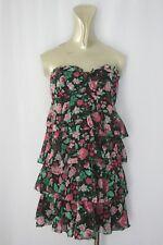 Womens Size 10 Portmans Floral Frill Party Beach Summer Strapless Dress
