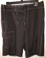 Burnside Black Swim Surf Beach Board Shorts Men's Size 30.      E8