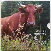 Latvian 2016 - Original BU KMS with 9 coin