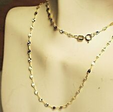 14k solid y/gold 22'' long, star link, sparkly, strong, lightweigt chain 1.1gram