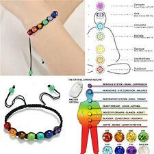 7 Chakra Healing Balance Beads Bracelet Yoga Life Energy Charm Bracelet Jewelry