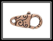 Clasps, Copper, Value Variety Pack of 45, Lobster Claw & Bullet Clasps/Tab