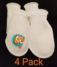 "Four (4) 4"" Filter Socks 4""x10"" Felt 200 Micron sock Aquarium Reef Wet Dry Sump"