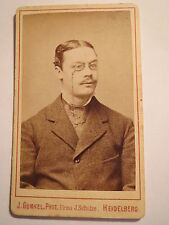 Heidelberg - A. Weller als Student im WS 1878/79 - CDV / Studentika