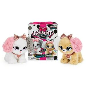 Present Pets Fancy Puppy Interactive Plush 100+ Sounds Actions New Kids Xmas Toy