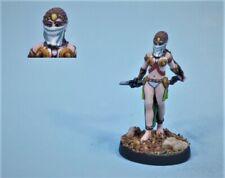 Painted miniature cute Female sorceress