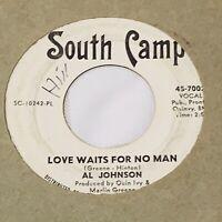 "NORTHERN SOUL PROMO 45/ AL JOHNSON ""LOVE WAITS FOR NO MAN"" CLEAN"