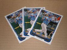 Lot of (3) 2012 Mike Moustakas Bowman cards #103. Kansas City Royals