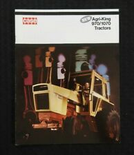 "GENUINE 1971 CASE ""970 & 1070 AGRI-KING TRACTOR"" CATALOG BROCHURE VERY NICE"