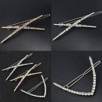 Chic Shiny Hairpin Rhinestone Hairs Clips Metal Barrette Hair Accessories Gifts