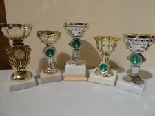 TENNIS TROPHY CUPS ON MARBLE BASE BUNDLE - COLLECTIBLE TROPHY / AWARDS