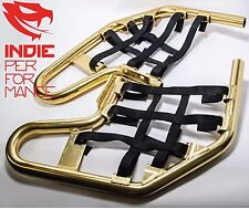ANODIZED GOLD NERF BARS YAMAHA YFZ 450 2004-2013 FREE SHIPPING YFZ450 NETS BLACK