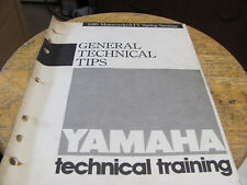 1989 Yamaha General Technical Tips 18pgs