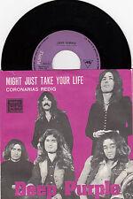 "DEEP PURPLE MIGHT JUST TAKE YOUR LIFE RARE 1974 RECORD YUGOSLAVIA 7"" PS"