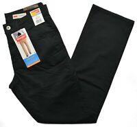 Wrangler #9492 NEW Men's Black Straight Fit Straight Leg Opening Stretch Pants