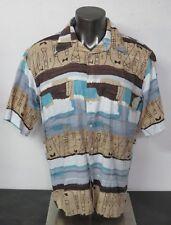 Men's Countess Mara Short Sleeve Button Front Pocket Shirt Size XL Cotton Rayon