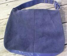 Stylish Simple GAP Large Purple Suede Shoulder Bag Purse Hobo Tote