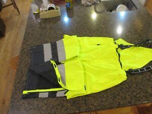 Helly-Hansen Mens XL Bib Overalls pants Yellow Potsdam High Visibility Workwear