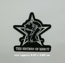 The Sisters of Mercy Band Patch Sew On Iron Embroidered Gothic Rock Music Logo