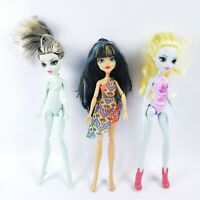 Monster High Lot of 3 Dolls Lagoona Blue Frankie Stein and Cleo De Nille