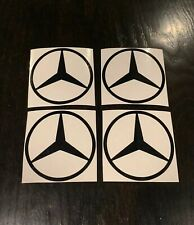 """4x Mercedes Benz Decals  *MANY COLOR OPTIONS*  Mercedes Stickers  3.5"""" ROUND"""