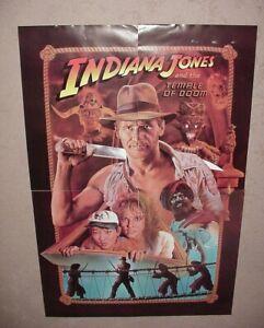 Vintage 4 Indiana Jones Movie Posters Temple of Doom NOS 1984 7Up Mega promo