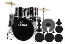 Schlagzeug Set mit Dämpfer Komplettset plus Zubehör Drumset + DVD + Schule
