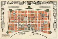 Mid-century New Orleans Map la Nouvelle Orleans Vintage History Wall Poster
