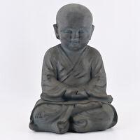 Buddha Garten Deko Figur Statue Skulptur Feng Shui Asia Mönch Meditation 43 cm