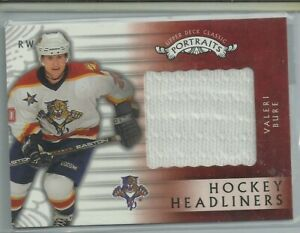 Valeri Bure Game-Worn Jersey Card  - Florida Panthers