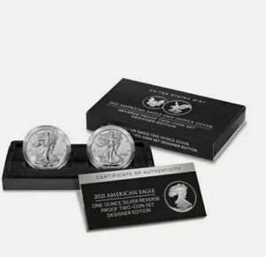American Eagle 2021 One Ounce Silver Reverse Proof Two-Coin Set (presale)