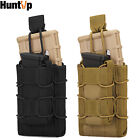 HUNTVP Tactical Molle Open Top Magazine Pouch Double Rifle Pistol Mag Holder Bag