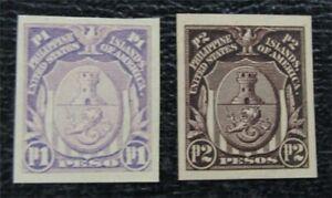 nystamps US Philippines Stamp # 350,351 Mint OG H $40   L23x1136