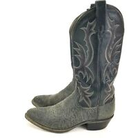 Mens DAN POST Black Red Stiching Cowboy Western Boots Size 7 D P2137