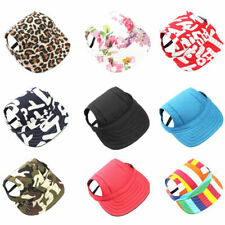 Puppy Pet Dog Baseball Sun Hat Cap With Ear Holes for Small Large Dogs S/M/L/