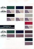 Chrysler Voyager SE Farben Prospekt D 10/94 brochure paintwork 1994 Autoprospekt