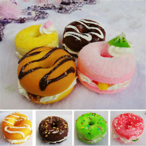1pc 6x4cm Donut Bread Fake Food Toy Bakery Display Props Decor Xmas Gift Random