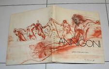PIETRO ANNIGONI Galleria d'Arte Pirra Torino CATALOGO mostra 1973