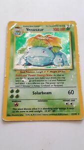 Pokemon 1999 Base set Venusaur Holo #15/102