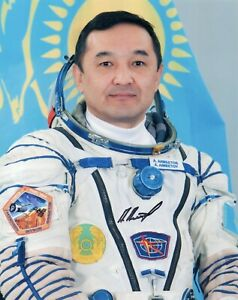 8x10 Original Autographed Photo of Kazakh Cosmonaut Aidyn Aimbetov