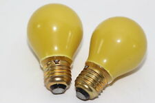 2 x Osram GEC Vintage Yellow Small GLS Lamp / Bulb 240V 15W ES Globe Light bulb