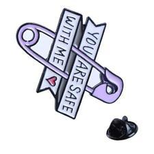 Badge Jewelry Gift Cloth Decor Hs3 Women Heart Brooch Pin Charm Enamel