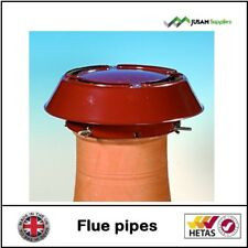 Chimney pot rain cowl FOR WOODBURNER MULTIFUEL STOVE terracotta