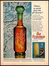 1964 Old Fitzgerald Bonded Bourbon Tree of Life Decanter Vintage Print Ad