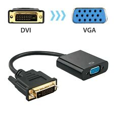 1080p DVI-D 24+1 Pin Male to VGA 15Pin Female Active Cable Adapter Converter US