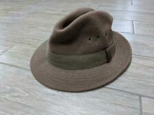 vintage LL BEAN wool FEDORA top hat LARGE brown USA indiana jones PARK RANGER