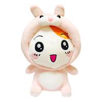 27Cm Official Animal Ebichu Poncho Rabbit Cape Plush Toys Soft Stuffed Doll